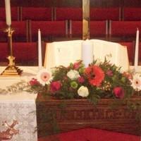 Ceremony, Flowers & Decor, white, orange, pink, green, Ceremony Flowers, Flowers