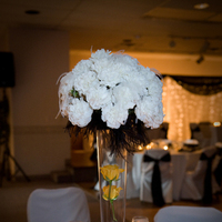 Reception, Flowers & Decor, white, yellow, black, Flowers