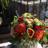 Flowers & Decor, orange, red, green, Flowers