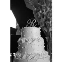 Cakes, cake, Monogrammed Wedding Cakes, Monogram