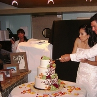 Reception, Flowers & Decor, Wedding Dresses, Cakes, Fashion, white, yellow, orange, red, brown, cake, dress