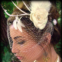 Beauty, Veils, Fashion, white, pink, red, purple, blue, black, silver, gold, Bride, Veil, Wedding, Hair, Birdcage, Bandeau, Acessory
