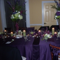 Flowers & Decor, purple, green, Rustic, Modern, Tables & Seating, Candles, Flowers, Modern Wedding Flowers & Decor, Romantic, Calla, Lilies, Orchids, Chairs, Floating, Lush, Hydrangeas, Dramatic, Eggplant, Submerged, Vanda, Chivari, Dendrobium