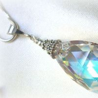 Jewelry, silver, Necklaces, Crystal, Necklace, Swarovski, Sterling, Marcasite
