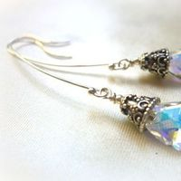 Jewelry, silver, Earrings, Crystal, Swarovski, Sterling