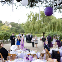 Reception, Flowers & Decor, white, purple, gold, Centerpieces, Vineyard, Flowers, Vineyard Wedding Flowers & Decor, Centerpiece