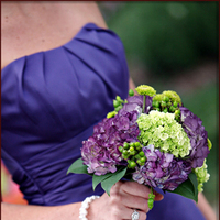 Flowers & Decor, Bridesmaids, Bridesmaids Dresses, Fashion, purple, green, Bridesmaid Bouquets, Flowers, Flower Wedding Dresses