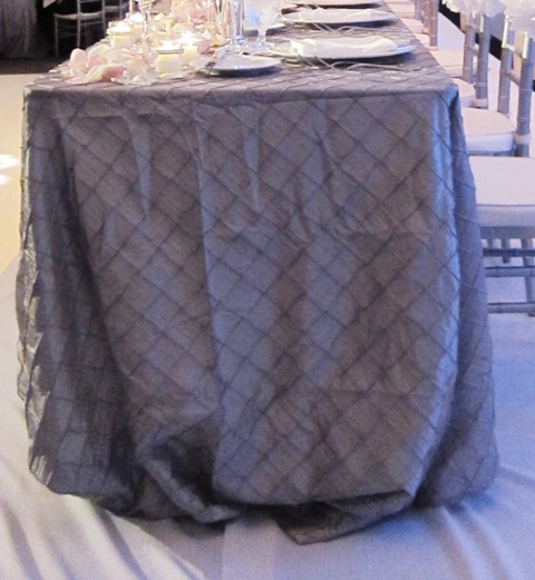 Reception, Flowers & Decor, Decor, silver, Tablecloth, Linen, Pintuck, Rectangular