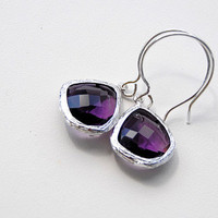 Jewelry, purple, Earrings, Bridesmaid, Blustarfruit