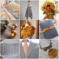 orange, silver, Inspiration board