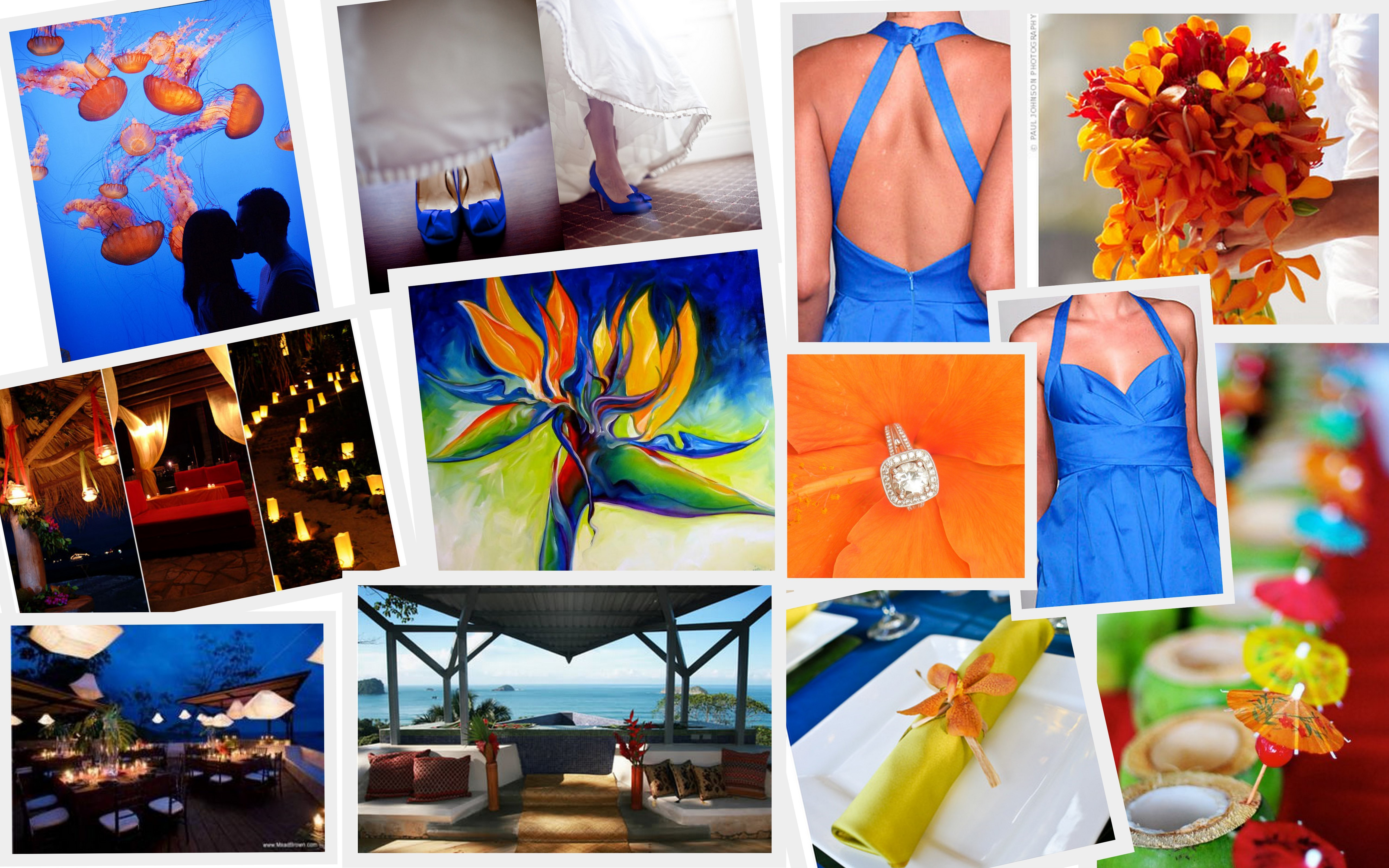 orange, blue, Inspiration board