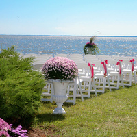 Ceremony, Flowers & Decor, pink, Beach, Beach Wedding Flowers & Decor, Starfish, Pew, Markers, Banks, Outer