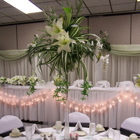 Reception, Flowers & Decor, white, green, black, Inspiration board