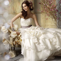 Wedding Dresses, Fashion, white, ivory, dress, Bride, Wedding, Couture, Jim, Hjelm, 8962