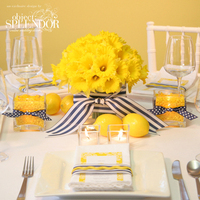 Flowers & Decor, yellow, blue, Flowers