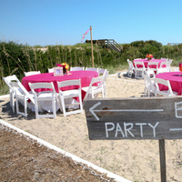 Reception, Flowers & Decor, pink, Beach, Beach Wedding Flowers & Decor, Party, Sign, Wooden