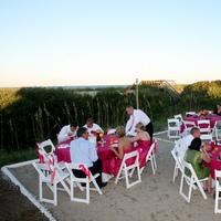 Reception, Flowers & Decor, pink, Beach, Beach Wedding Flowers & Decor