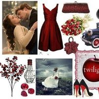 red, Bride, Board, Inspiration board, Twilight