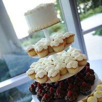 Reception, Flowers & Decor, Cakes, white, yellow, cake, Cupcakes, Chocolate, Cupcake, Board, Lemon, Tower, Inspirational