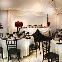 Reception, Flowers & Decor, white, red, black, Vision