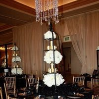 Reception, Flowers & Decor, black, gold