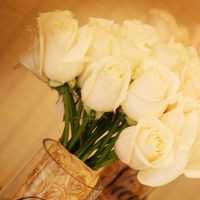 Flowers & Decor, white, black, gold, Flowers