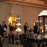 Reception, Flowers & Decor, black, gold