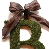 Reception, Flowers & Decor, purple, green, Moss, Letter