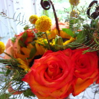 Flowers & Decor, yellow, orange, red, Flowers