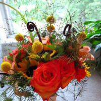 Flowers & Decor, yellow, orange, red, Flowers