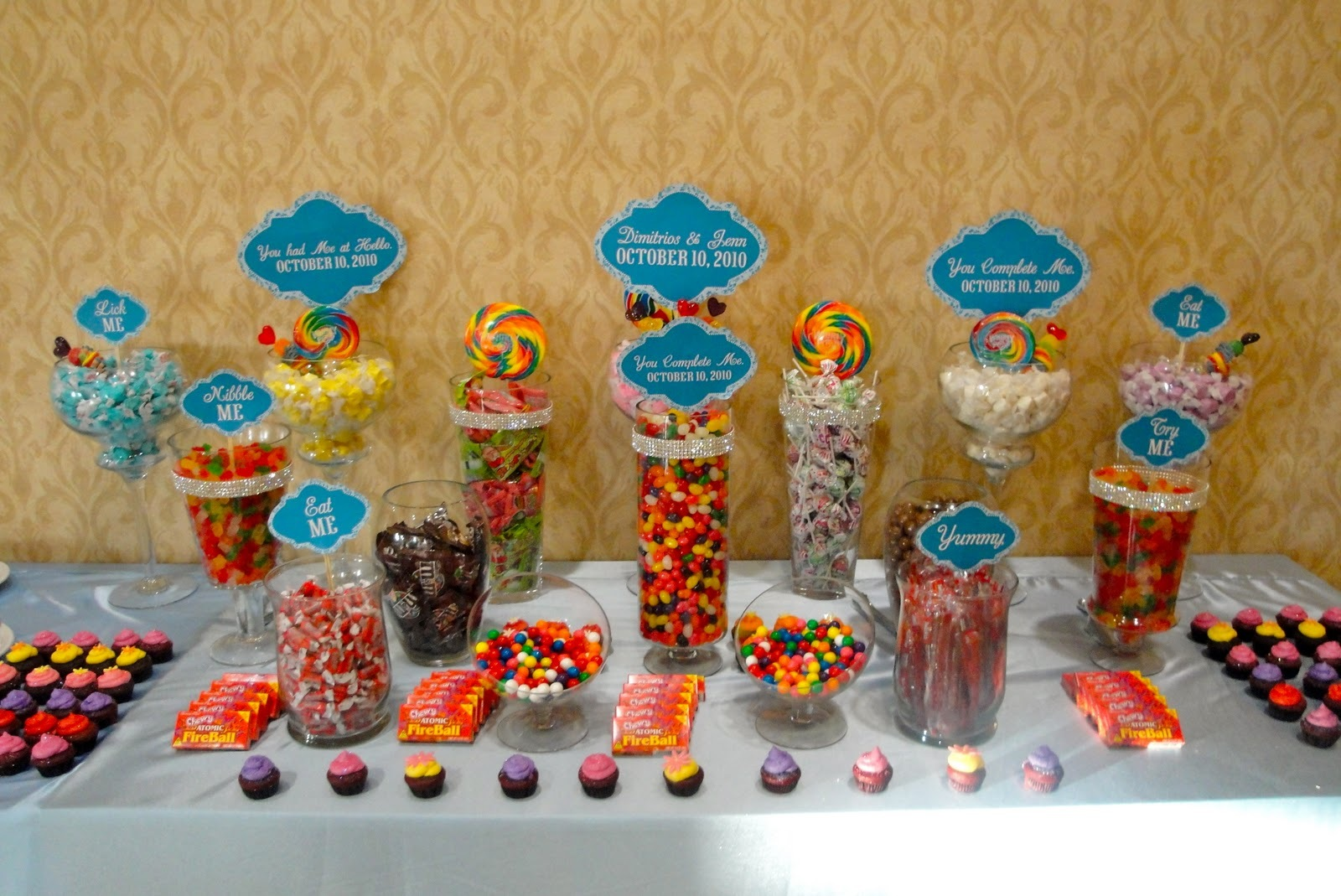 Custom, Candy, Buffet, Bars