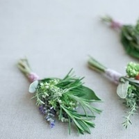Flowers & Decor, purple, green, Rustic, Flowers, Boutonnière