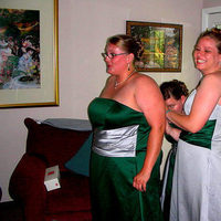 Bridesmaids, Bridesmaids Dresses, Fashion, green, silver, Getting, Ready