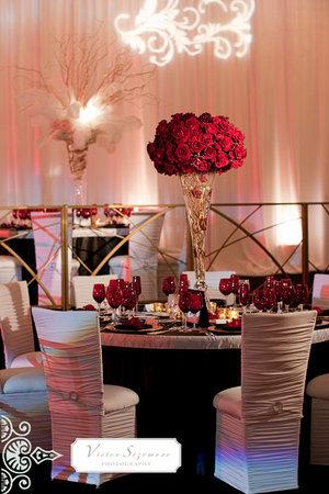 Reception, Flowers & Decor, red