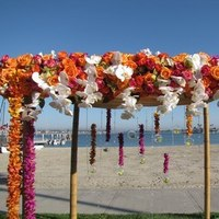 Ceremony, Flowers & Decor, orange, pink, green, Ceremony Flowers, Flowers, Chuppah, Canopy
