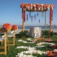 Ceremony, Flowers & Decor, orange, pink, green, Ceremony Flowers, Flowers, Chuppah, Canopy