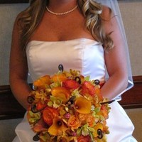 Flowers & Decor, orange, pink, green, Bride Bouquets, Flowers, Bouquet, Bridal