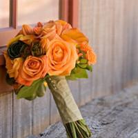 Flowers & Decor, orange, green, Bride Bouquets, Flowers, Bouquet