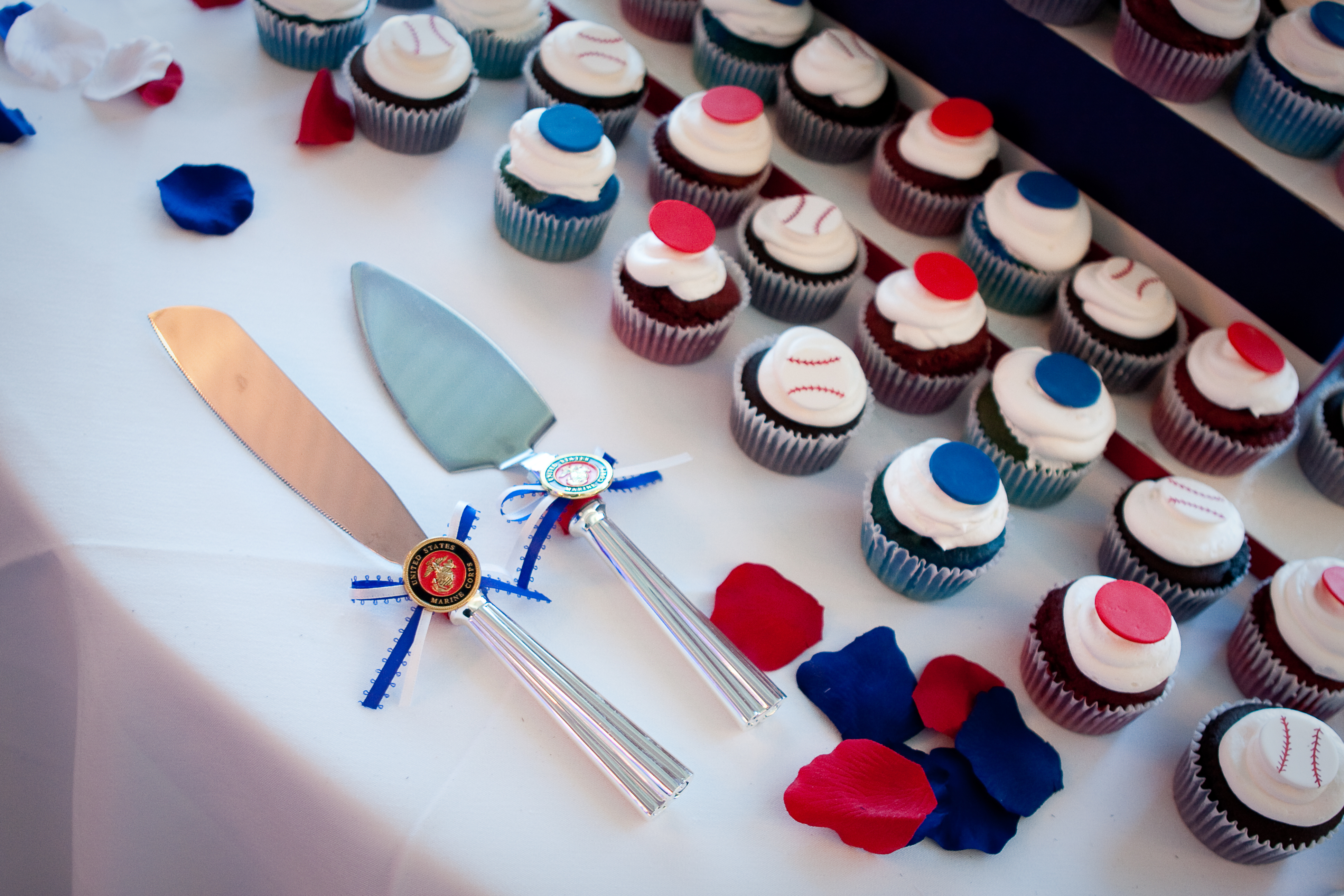 Photography, Cakes, white, red, blue, cake, Military, Marine, Hollis, Corps, Cari
