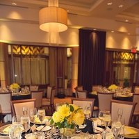 Reception, Flowers & Decor, yellow, blue, silver