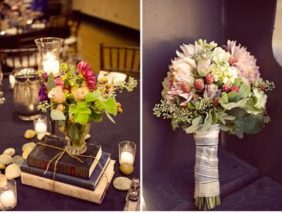 Ceremony, Reception, Flowers & Decor, white, orange, pink, red, purple, green, gold, Ceremony Flowers, Centerpieces, Inspiration board, Books