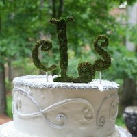 Flowers & Decor, Cakes, white, green, cake, Flowers, Topper, Inspiration board, Letters, Moss