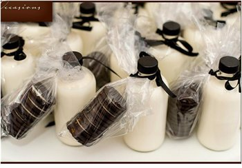 Reception, Flowers & Decor, Favors & Gifts, favor, Inspiration board, Milk, Oreos