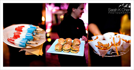 Reception, Flowers & Decor, white, red, blue, Food, Mini, Cheese, Inspiration board, Pop, Burgers, Sliders, Fries, Cycles