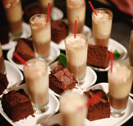 Reception, Flowers & Decor, Mini, Inspiration board, Shots, Brownie, Milkshake