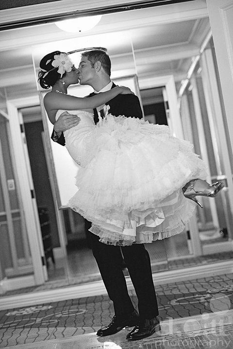Beauty, Wedding Dresses, Shoes, Fashion, white, black, dress, Bride, Groom, Hair, Moment, Over, Carry, Alone, Threshold