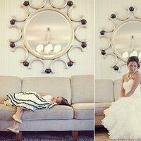 Beauty, Flowers & Decor, Jewelry, Wedding Dresses, Shoes, Fashion, white, green, dress, Makeup, Bride Bouquets, Bride, Flowers, Flower, Girl, Hair, Flower Wedding Dresses