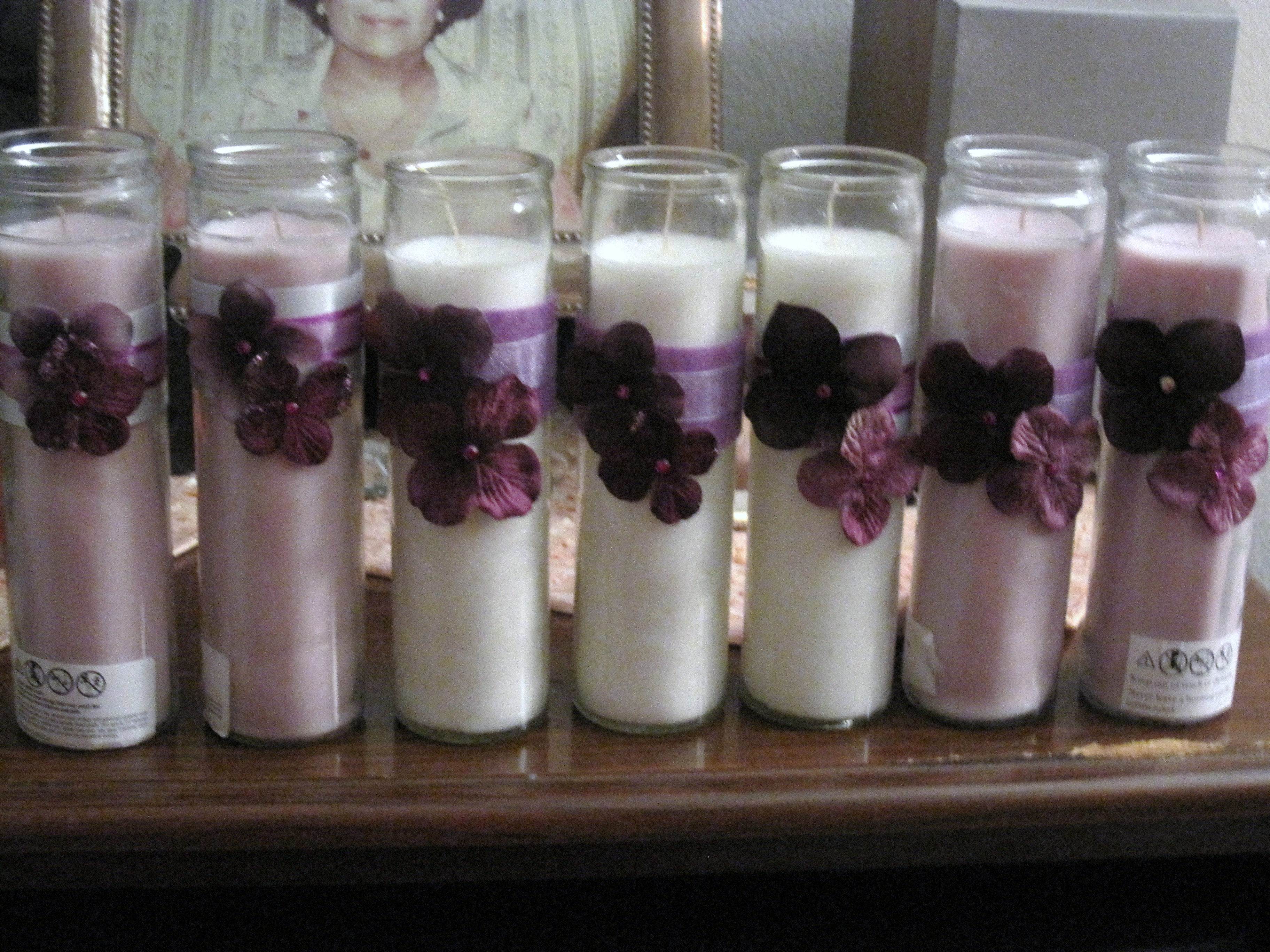 Ceremony, DIY, Reception, Flowers & Decor, Decor, white, purple, silver, Candles
