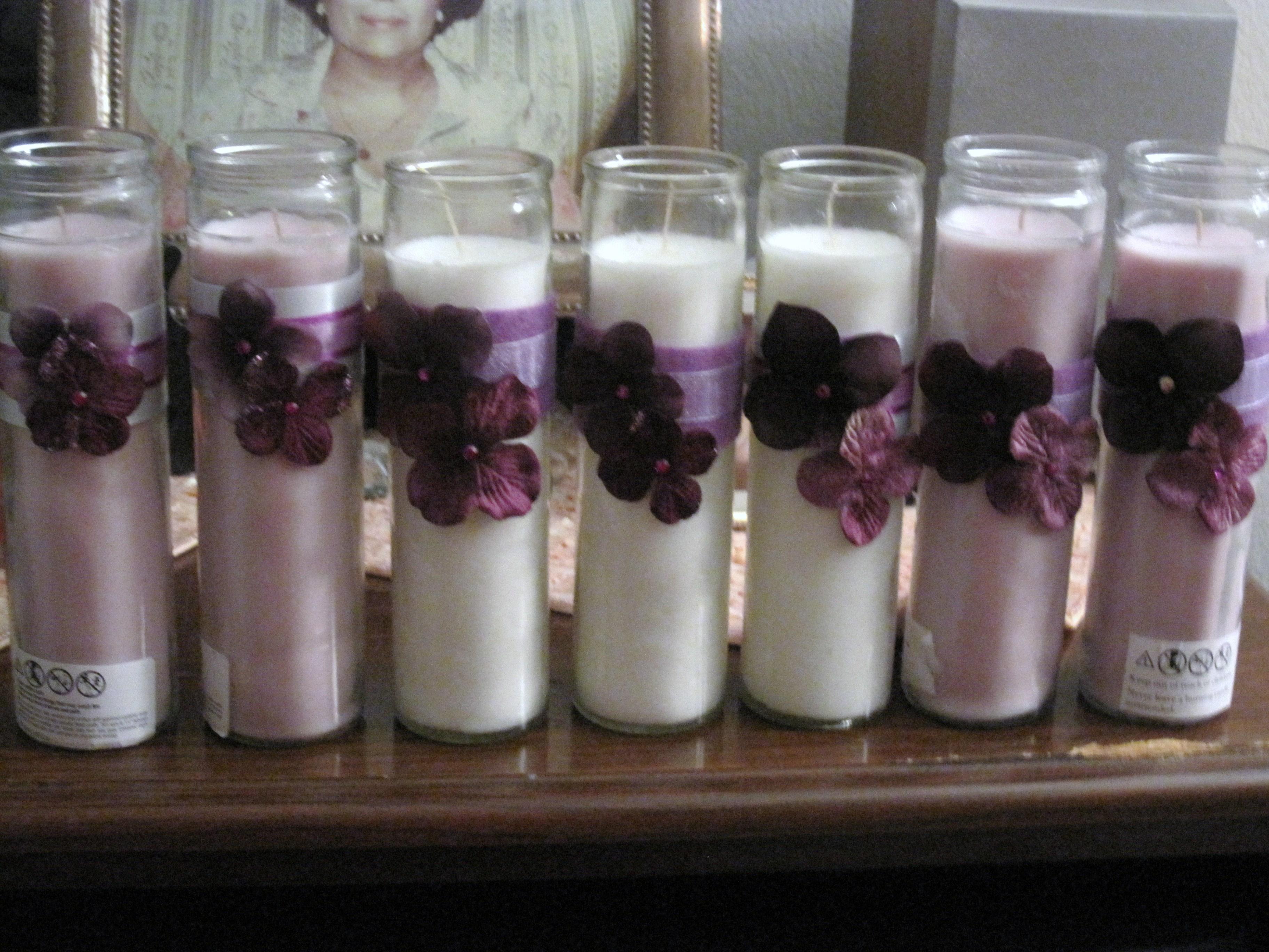 Ceremony, DIY, Reception, Flowers & Decor, Decor, white, purple, silver, Candles