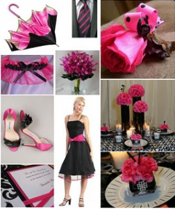 pink, black, Inspiration board